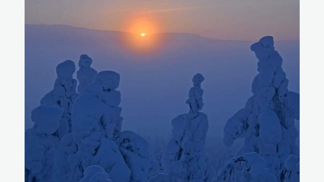 Lever de soleil sur le mont Hiihtomaa