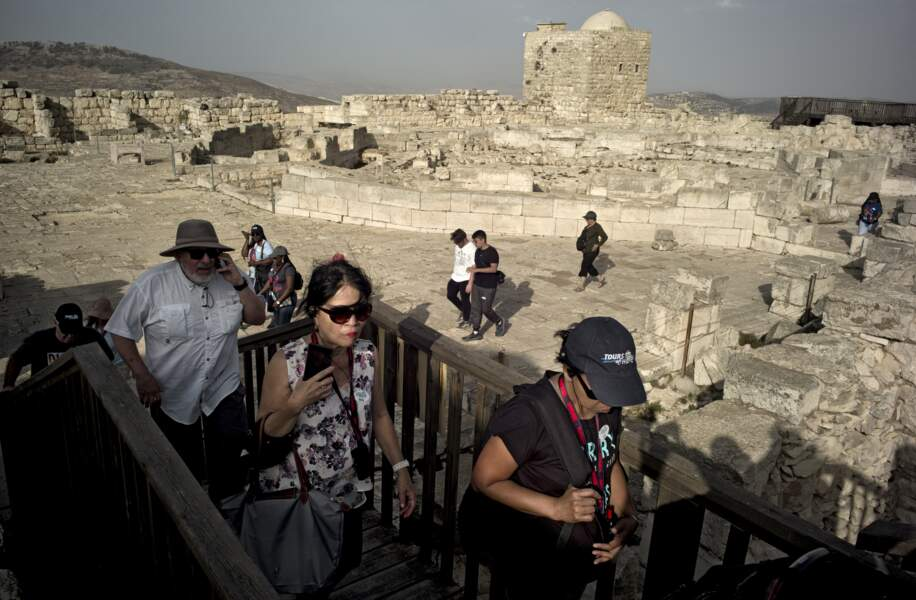 Des touristes en Terre sainte