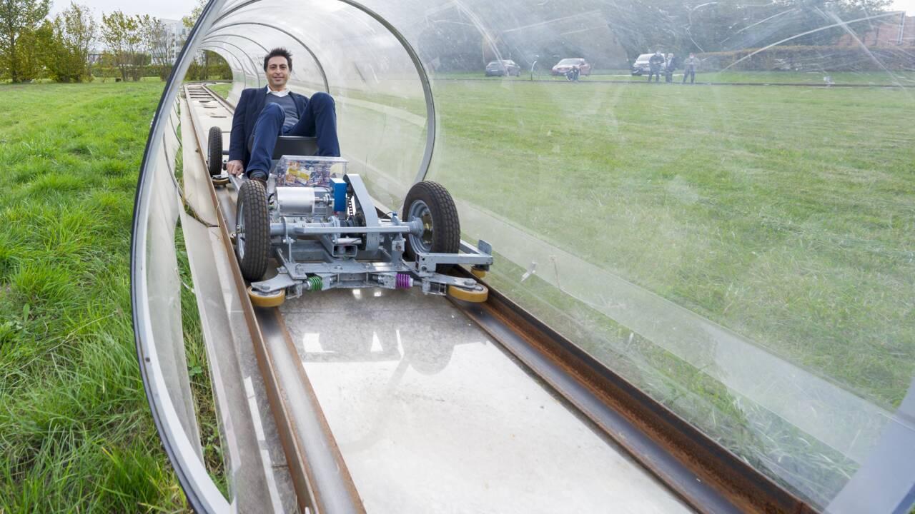 """Nancy: """"Urbanloop"""", le projet écologique de transport public d'élèves ingénieurs"""