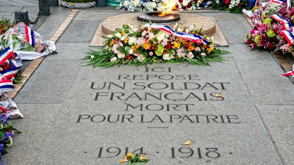 La tombe du soldat inconnu, haut lieu du souvenir de la Grande Guerre