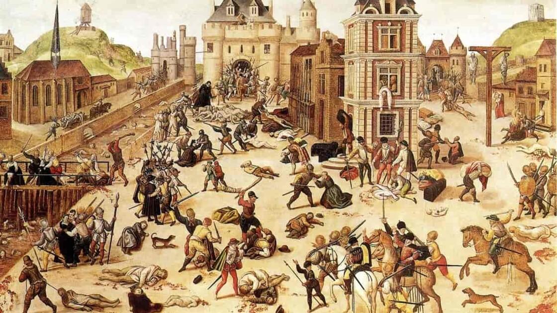 Les guerres de religion, conflit sanglant entre catholiques et protestants