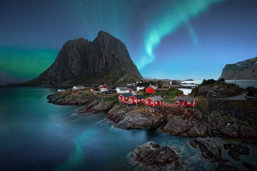 A bord d'un voilier en Norvège