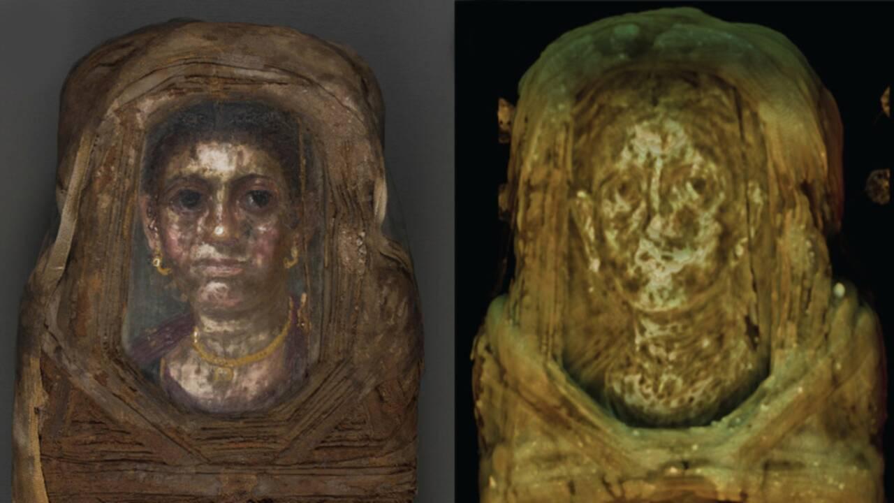 """Les """"dessous"""" d'une momie égyptienne révélés grâce à une technique inédite"""