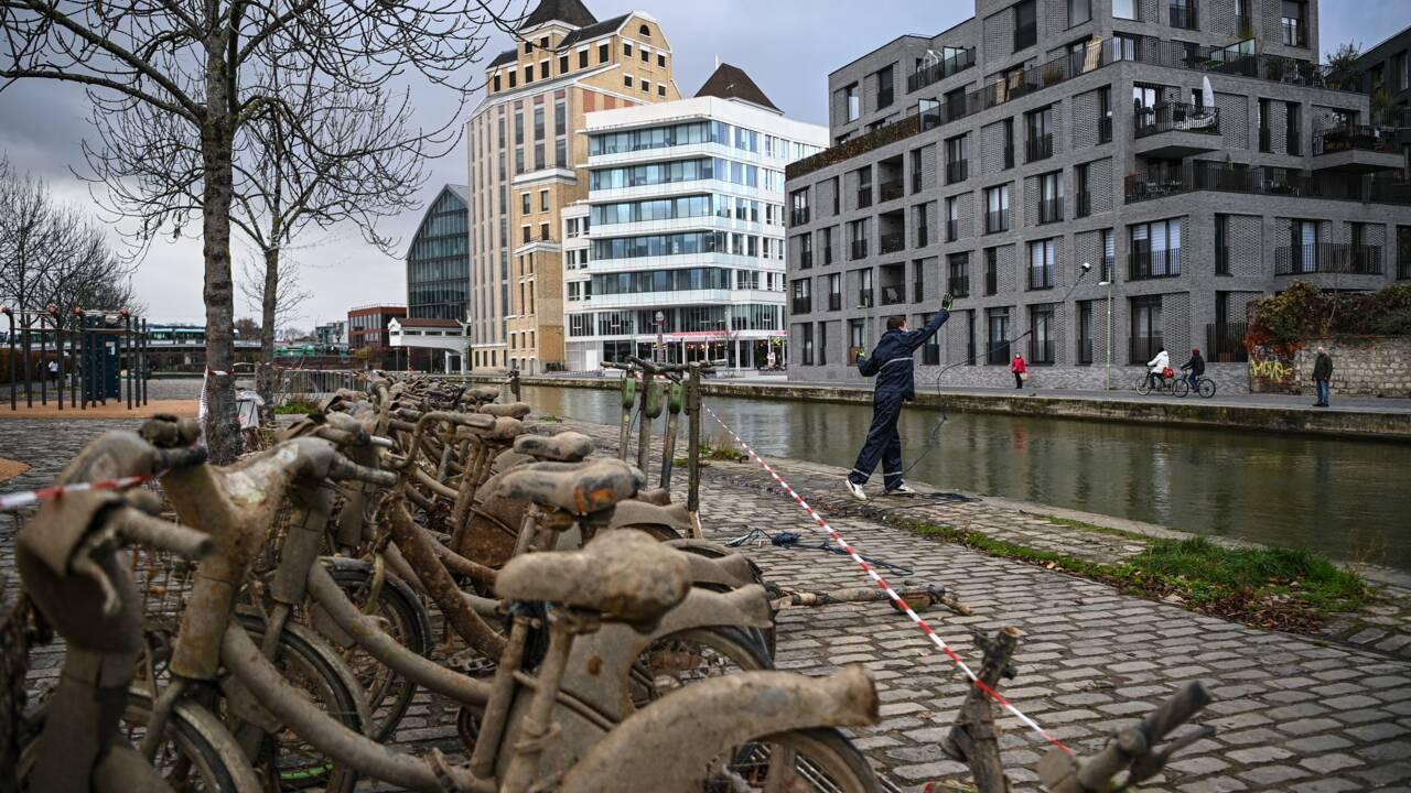 Seine-Saint-Denis: ils pêchent 52 Vélib' avec un aimant dans le canal de l'Ourcq