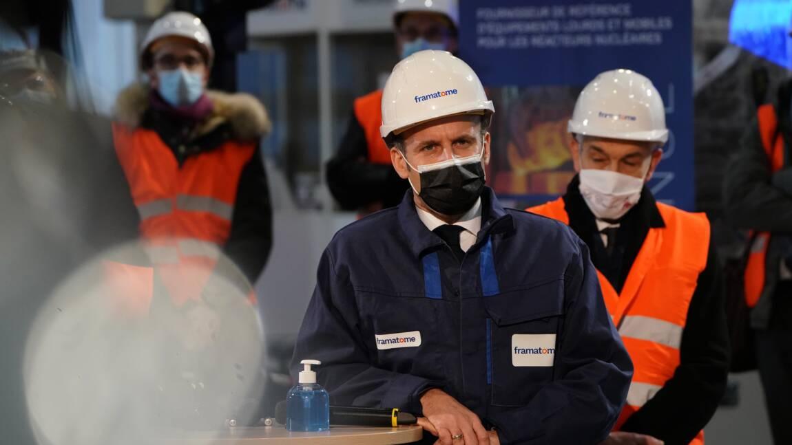 Macron annonce un futur porte-avion à propulsion nucléaire et défend cette énergie