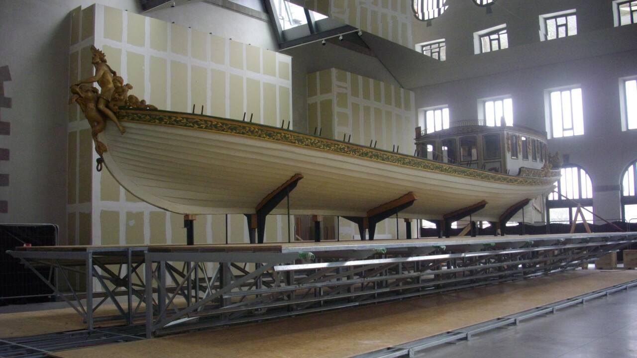 Restauré, le magnifique canot de Napoléon 1er fait sensation à Brest