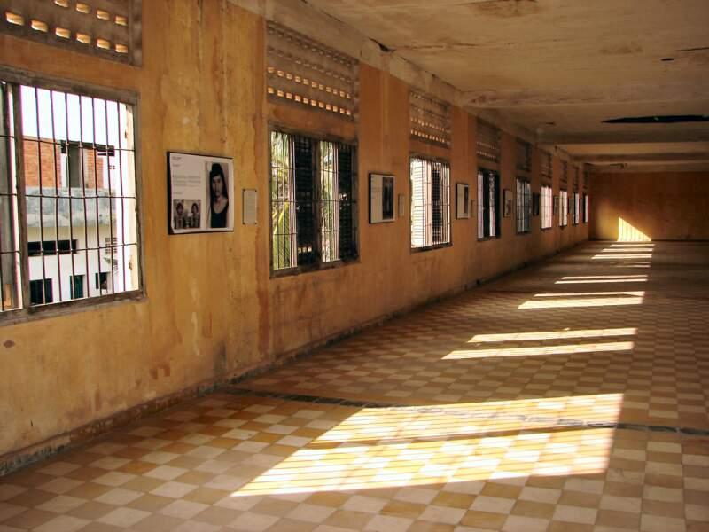 Le musée du génocide Tuol Sleng, situé dans une ancienne prison à Phnom Penh, au Cambodge