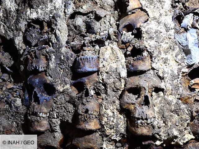 De nouveaux crânes humains émergent des vestiges aztèques de Mexico
