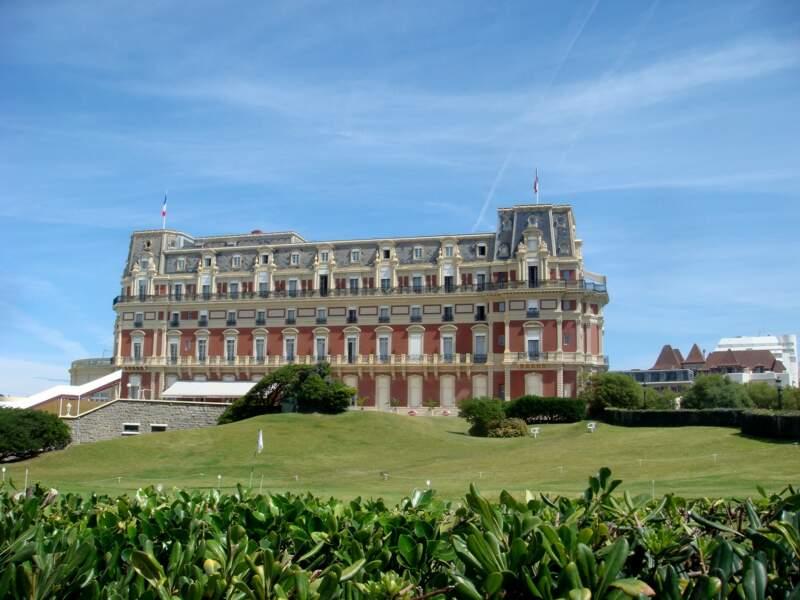 L'hôtel du Palais, à Biarritz