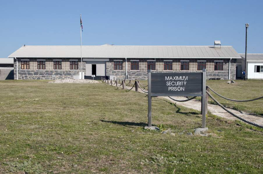 La prison de Robben Island, en Afrique du Sud