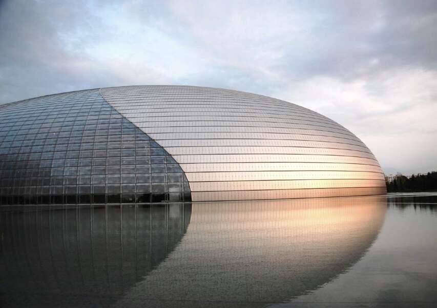 Le Centre national des arts du spectacle à Pékin, en Chine