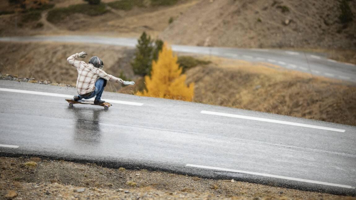 L'homme qui dévalait les cols alpins... sur son skateboard