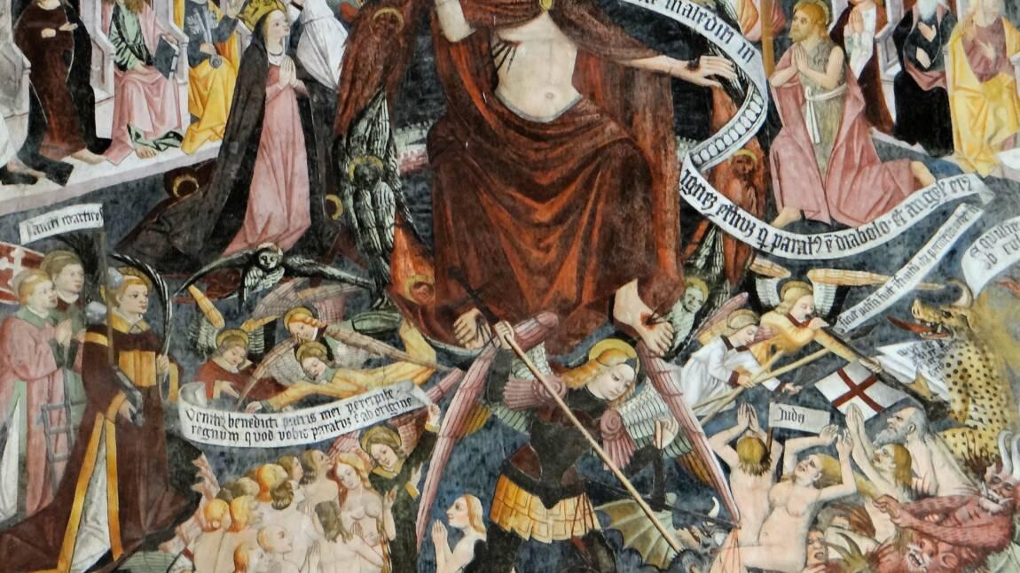 """Dans la Roya, la """"chapelle Sixtine"""" des Alpes-Maritimes et ses fresques """"trash"""" miraculées des intempéries"""