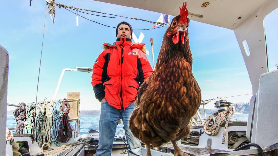 Guirec Soudée, le Breton qui a fait le tour du monde à la voile avec sa poule Monique