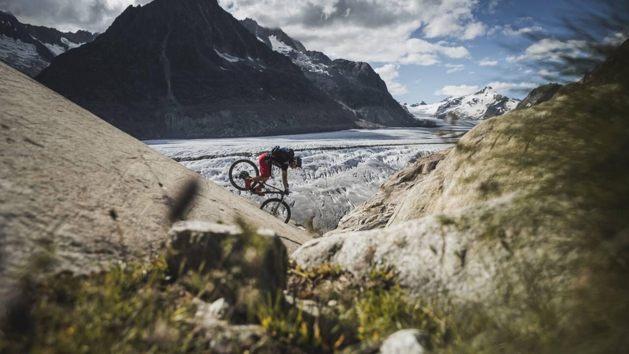 Dans le Valais suisse, quand Fred Horny remontait à vélo aux sources du Rhône