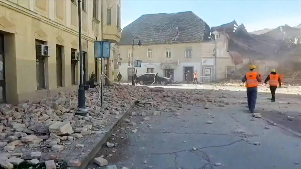 Sept morts au moins dans un violent séisme en Croatie ce mardi