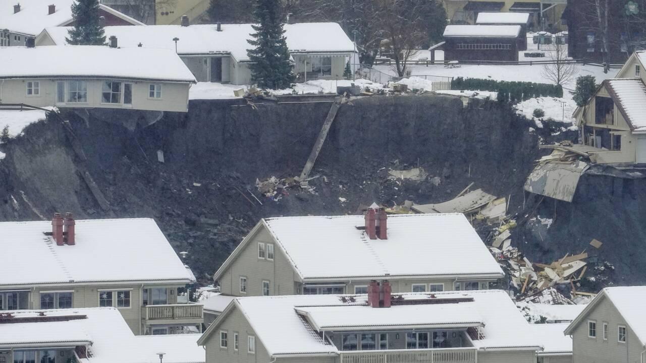 """La Norvège frappée par """"l'un des plus grands glissements de terrain"""" de son histoire"""