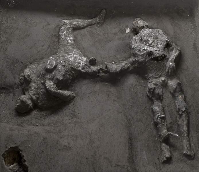 2 - Deux victimes de l'éruption du Vésuve découvertes à Pompéi