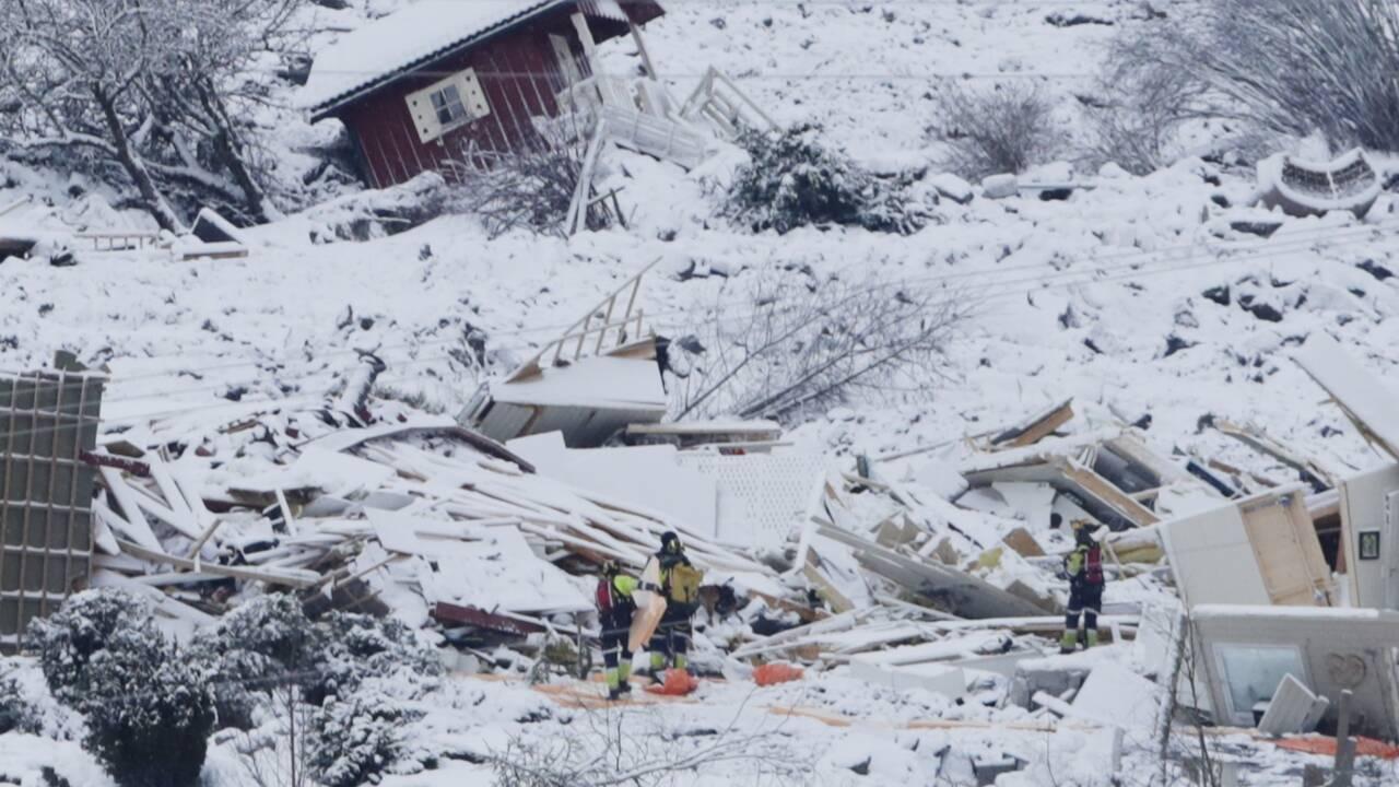 En Norvège, l'espoir de retrouver des survivants cinq jours après un glissement de terrain dévastateur
