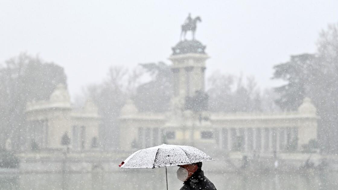 Madrid et une partie de l'Espagne sous la neige