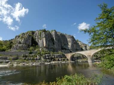 Dans les gorges d'Ardèche