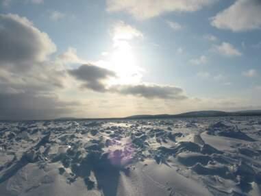 Raid en motoneige dans le Nunavik