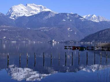 Le lac d'Annecy au fil des saisons