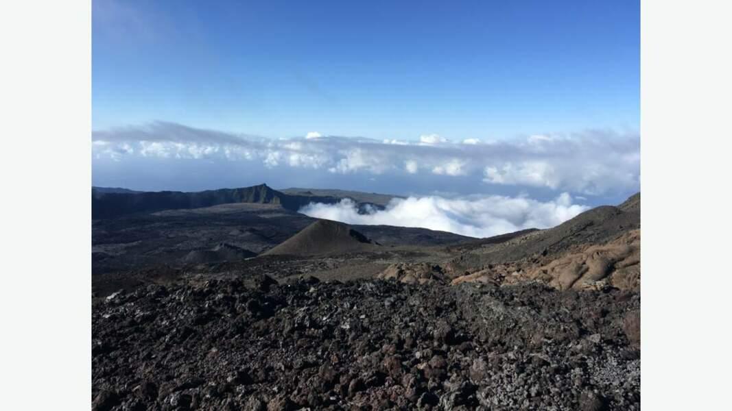 Le paysage volcanique de l'île