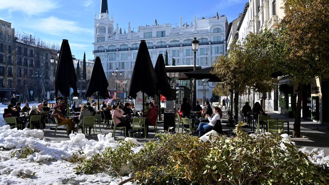 L'Espagne se remet lentement d'une tempête de neige historique