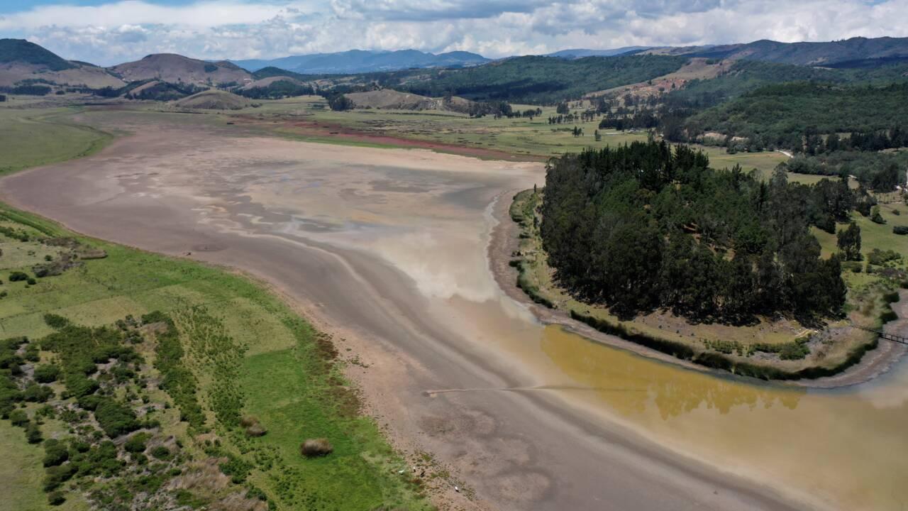 Le lac asséché de Suesca, témoin du changement climatique en Colombie