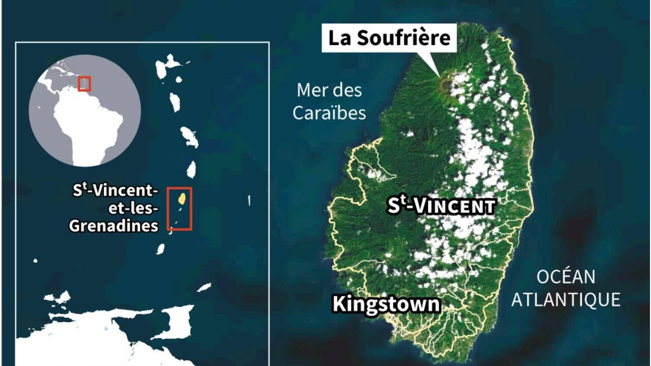 A Saint-Vincent, l'aide s'organise face au volcan et à la cendre