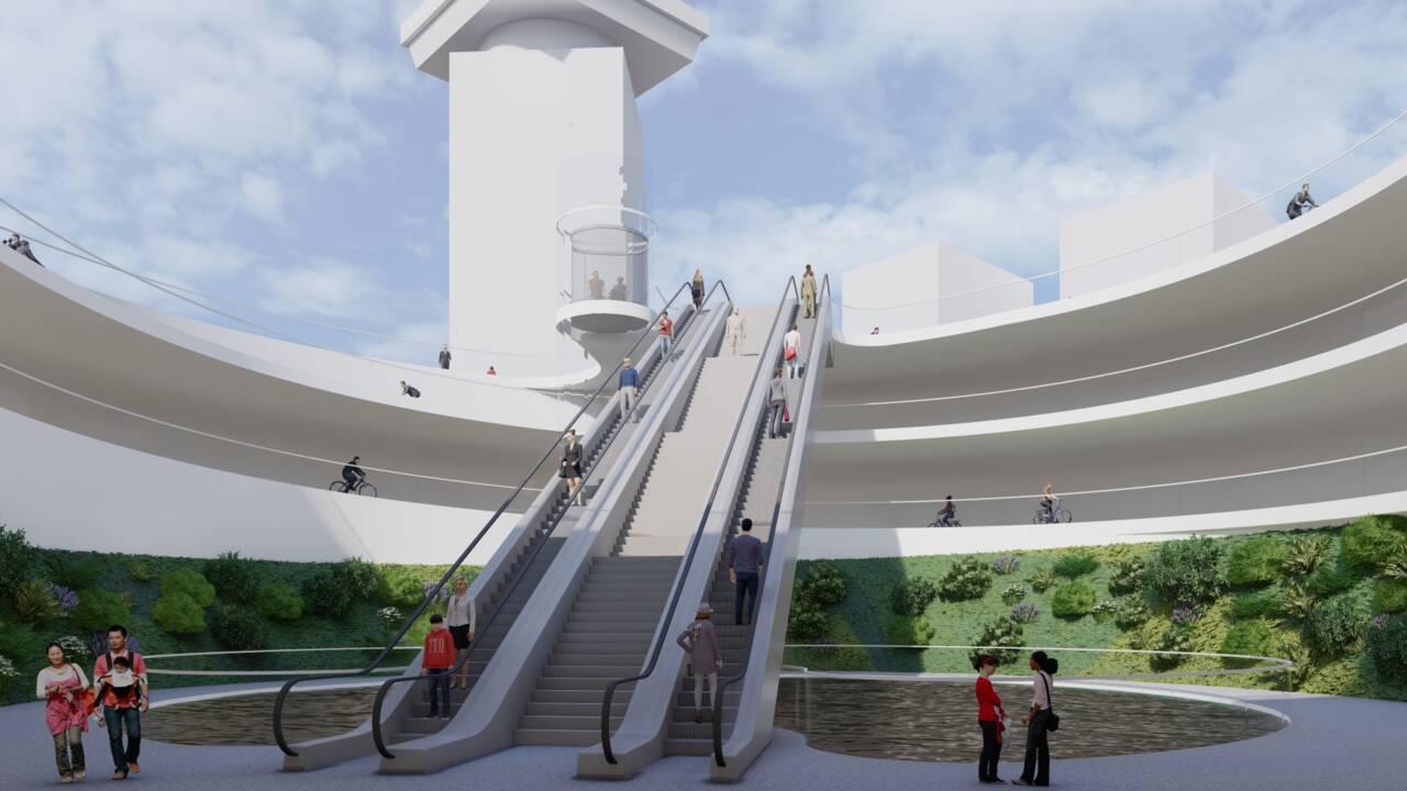 Ces architectes veulent construire une piste cyclable sous un lac d'Amsterdam
