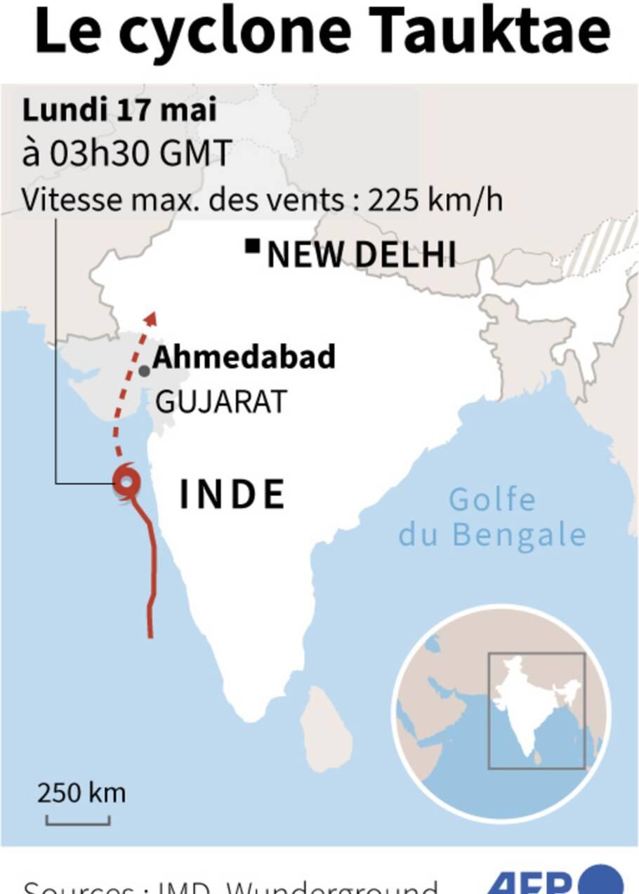 Le cyclone Tauktae en passe de frapper une Inde déjà fragilisée par le Covid-19