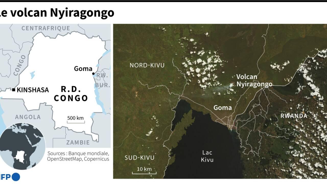 Eruption du Nyiragongo: Goma épargnée par la lave, les habitants inquiets des secousses