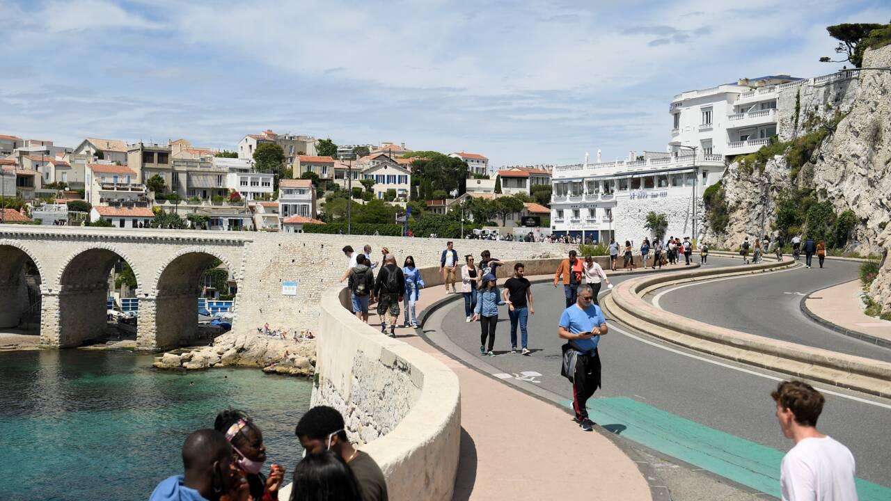A Marseille, la joie simple et inédite d'un littoral sans voiture