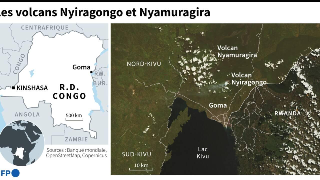 """Nyiragongo: """"fausse alerte"""" sur l'éruption d'un volcan voisin"""