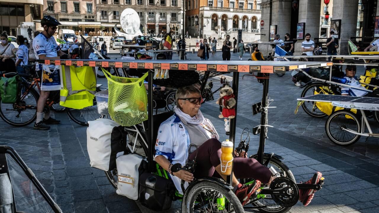 """""""Sun Trip"""": une trentaine de vélos solaires au départ de Lyon pour un périple de 3 mois en Europe"""