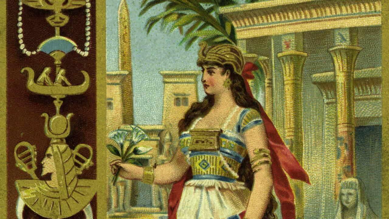 L'image de Cléopâtre dans la publicité, de Liebig à Palmolive en passant par la célèbre colle parfumée
