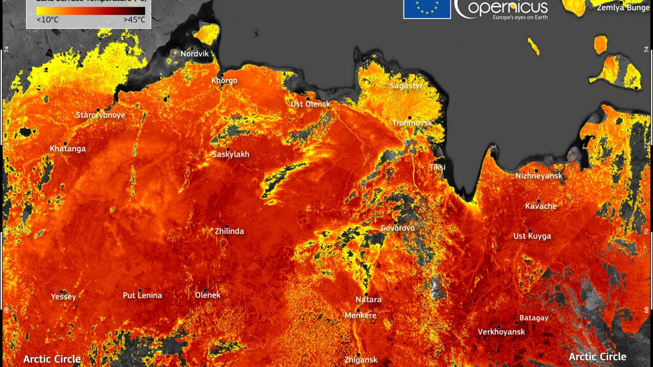 Une vague de chaleur fait grimper les températures jusqu'à 48°C en Sibérie