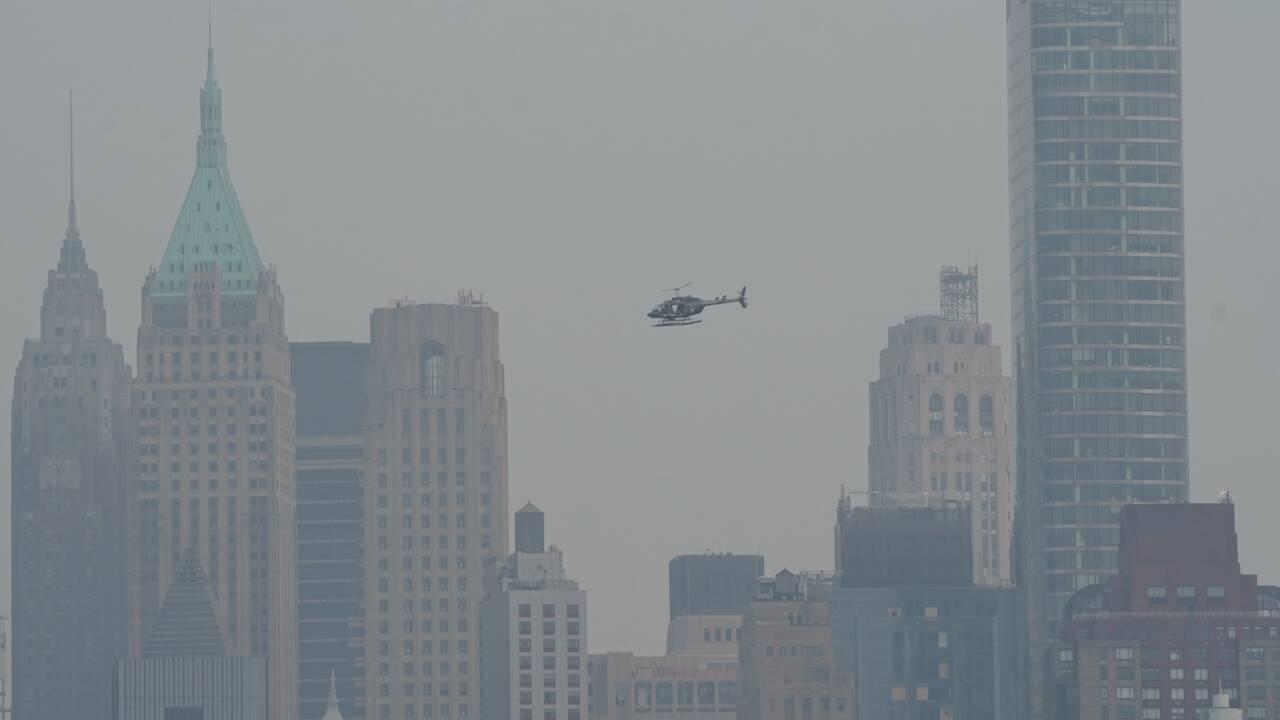 Alerte pollution à New York, atteinte par des fumées venues de l'ouest