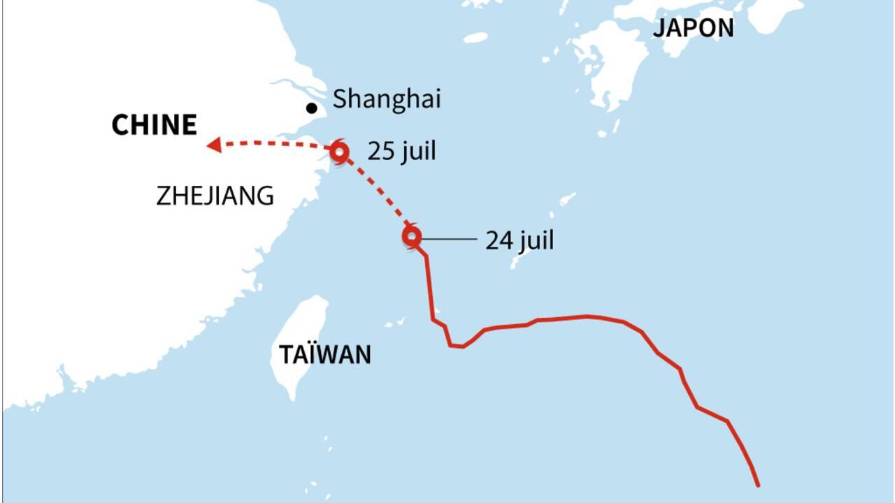 L'est de la Chine balayé par le typhon In-Fa, les transports interrompus