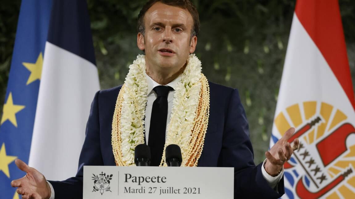"""Macron reconnait """"la dette"""" de la France à l'égard de la Polynésie sur les essais nucléaires"""