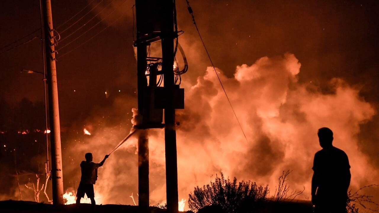 Incendies en Grèce : les pompiers tentent de maîtriser un feu important près d'Athènes