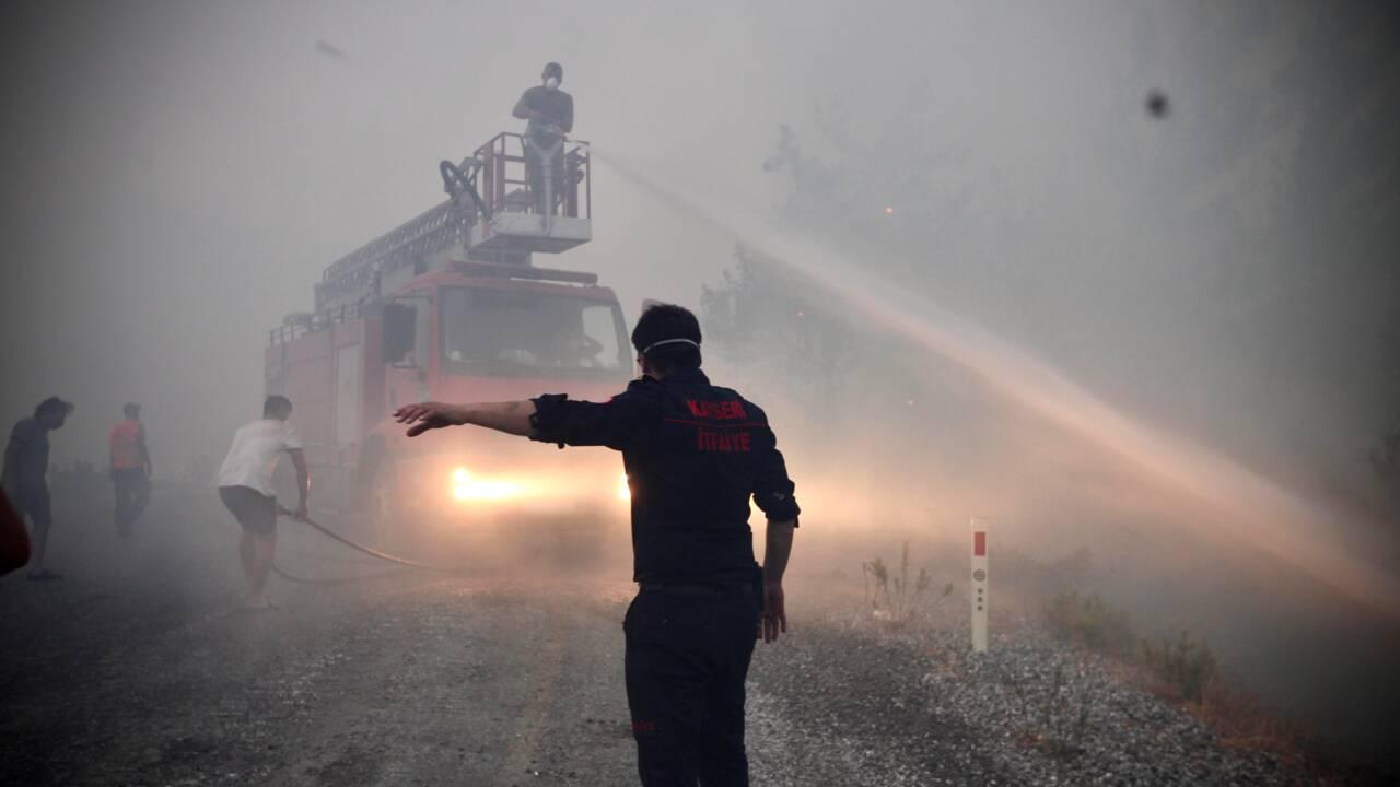 Les villageois volontaires, héros de l'ombre des incendies en Turquie