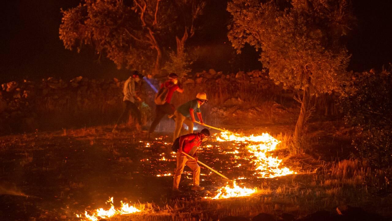 La Grèce brûle toujours, la Turquie aidée par la pluie