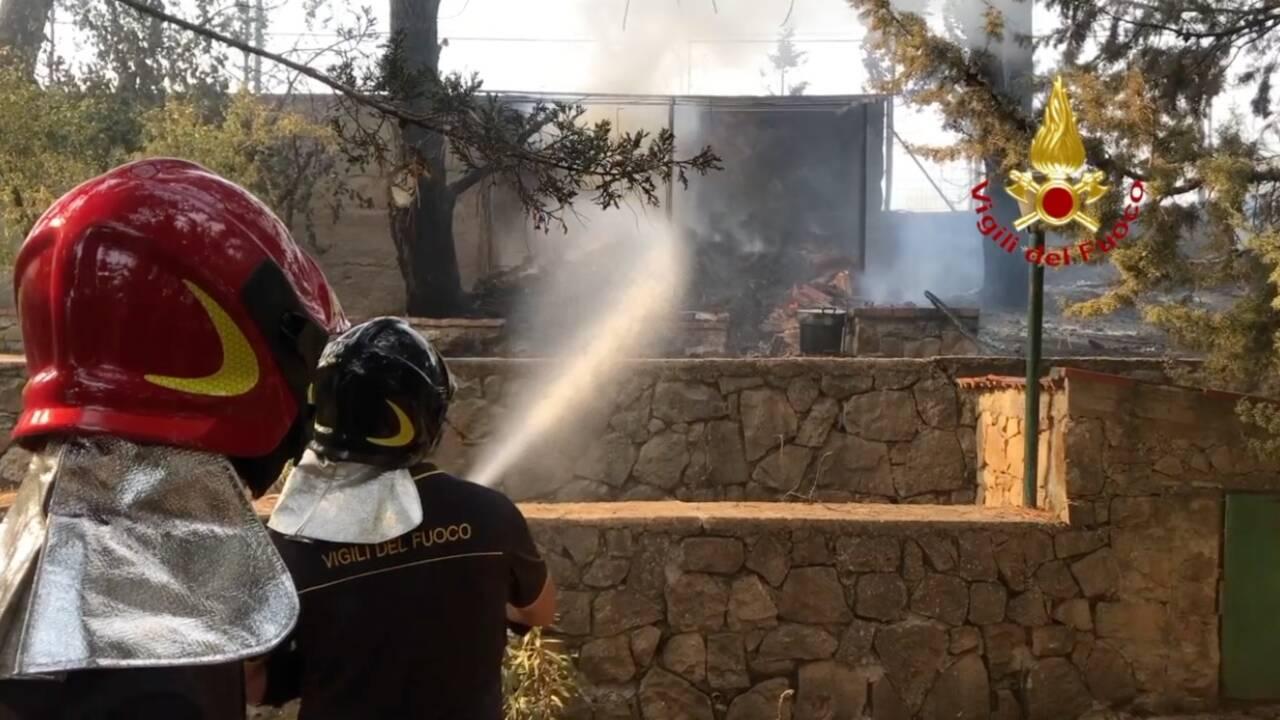 Chaleur record en Italie, touchée elle aussi par les incendies