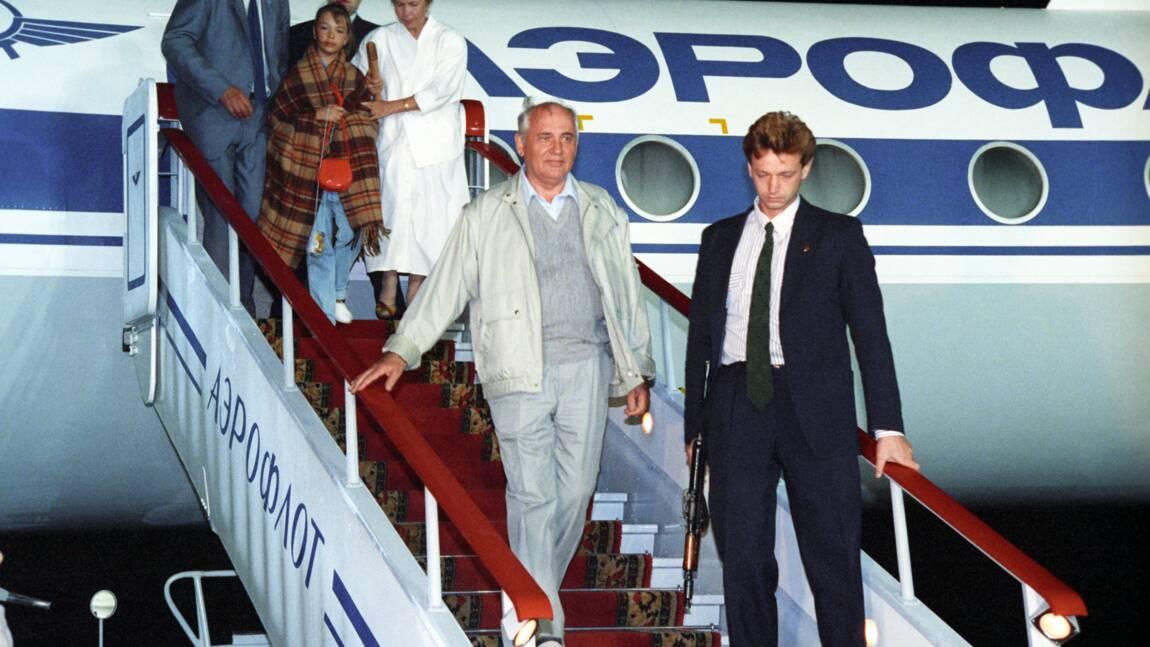 Le 21 Août 1991, opération de sauvetage de Mikhaïl Gorbatchev après le putsch raté des communistes conservateurs