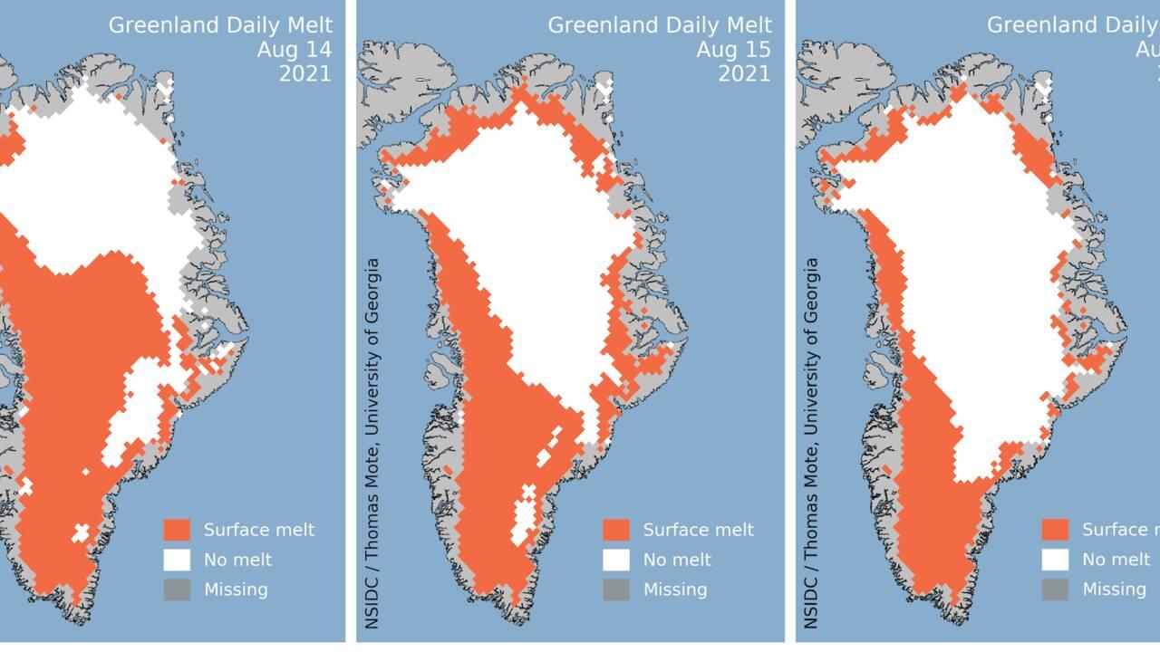 De la pluie observée pour la première fois au sommet du Groenland