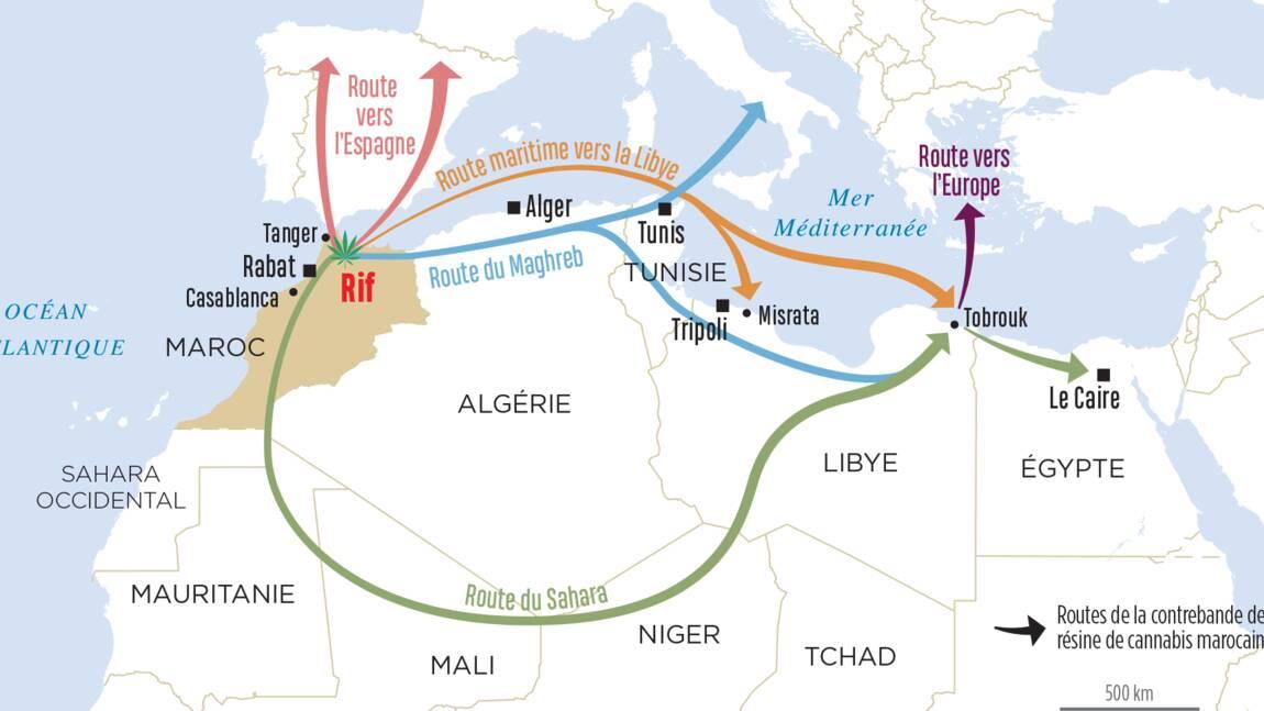Les grandes routes du haschisch marocain vers ses fumeurs en Europe