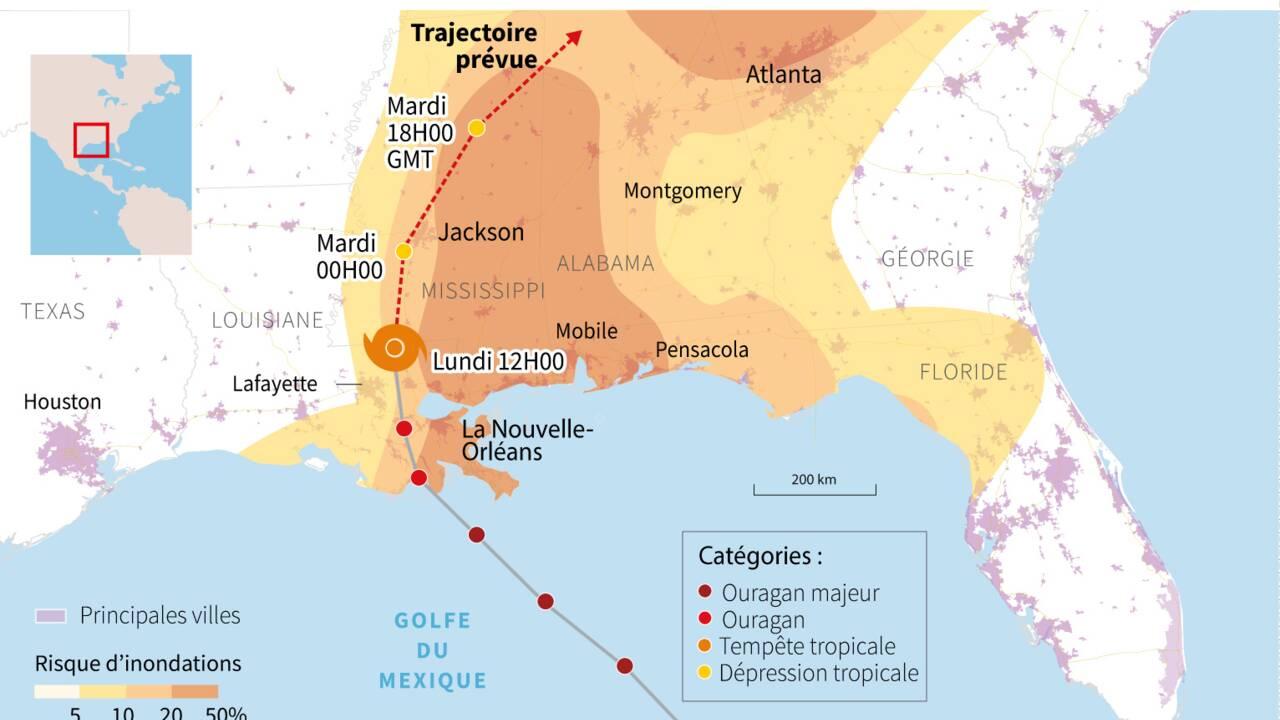 """Ouragan Ida: la Louisiane face aux dégâts """"catastrophiques"""""""
